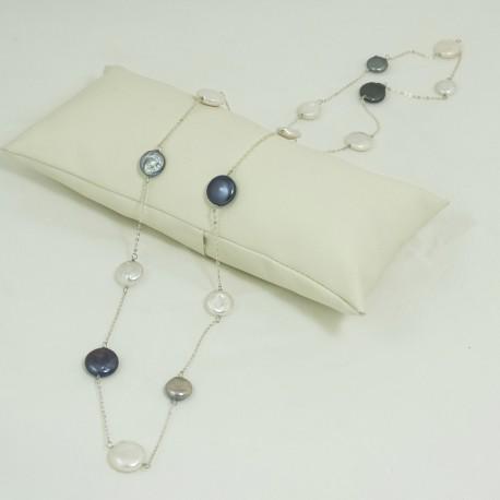 Sautoir Perles d'eau douce Baroque Chaîne