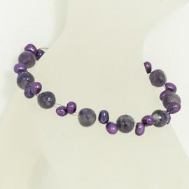 Bracelet Perle d'Eau Douce Améthyste