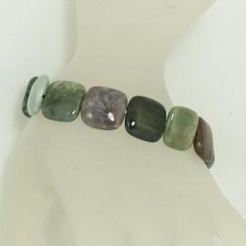 Bracelet Pierre Jasper carrée