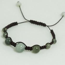 Bracelet Tressé Jade en lien coulissant