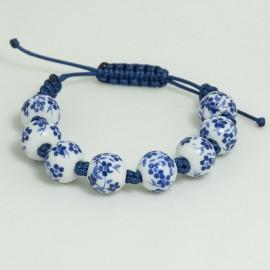 Bracelet Porcelaine en lien coulissant