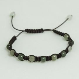 Bracelet Jade en lien coulissant