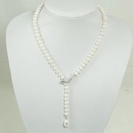 Collier Pendentif en Perle d'eau douce