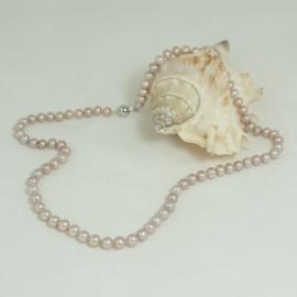 Collier perles d'eau douce blanches – 9.0/9,5mm