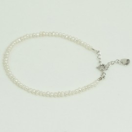 Bracelet Perle d'Eau Douce Blanche  2,5/3mm