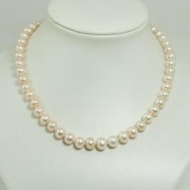 Collier perles d'eau douce pêches – 8.5/9.0mm