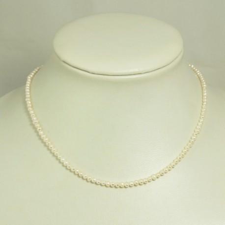 Collier perles d'eau douce blanches – 2,5/3,0mm