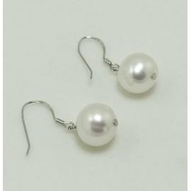 Boucles d'Oreilles  Argent et Perles d'Eau Douce blanches