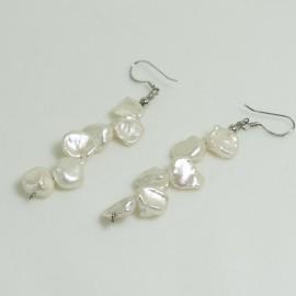 Boucles d'Oreilles Argent et Perles d'Eau Douce Baroque
