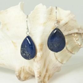 Boucles d'Oreilles argent et Lapis-lazuli