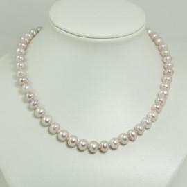 Collier perles d'eau douce lavandes 8.5/9mm