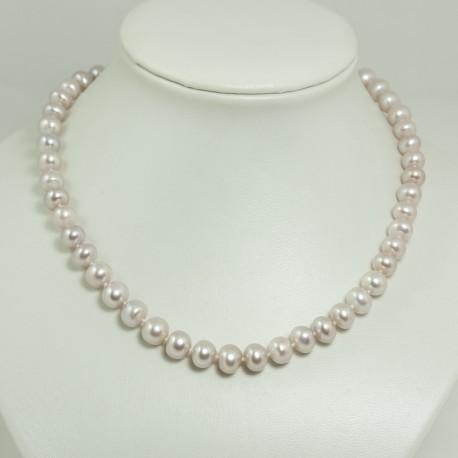 Collier perles d'eau douce lavandes – 8.5/9.0mm
