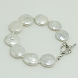 Bracelet Perle d'Eau Douce Baroque Blanche