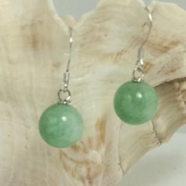 Boucles d'Oreilles Argent en Jade